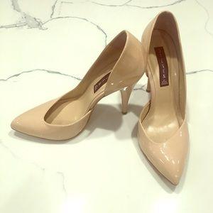 Steven by Steve Madden nude patent heels